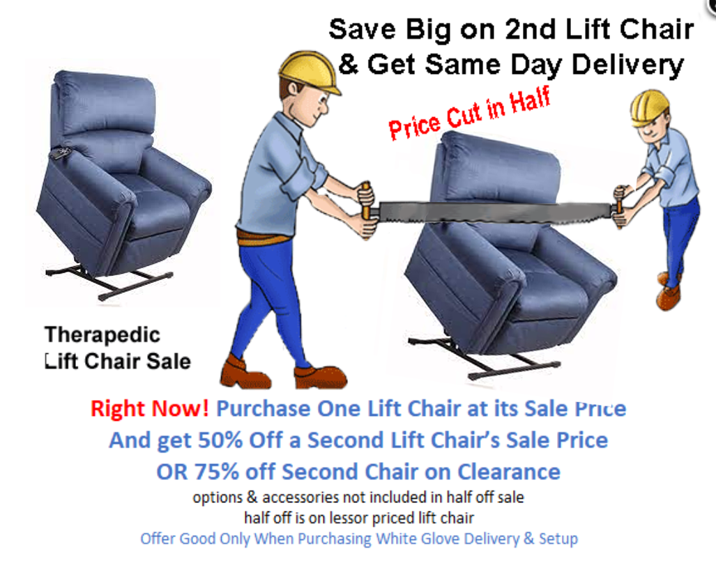 free freight on all lift chairs